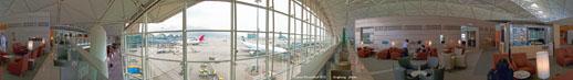 香港機場UA候機室